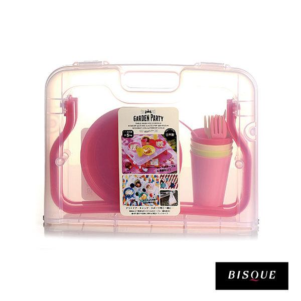 日本BISQUE 多功能野餐折疊餐桌/餐具組-共2色 野餐桌 餐具組 日本製造 好生活