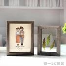 北歐風格植物標本畫框像框6寸7寸木質創意擺臺雙面透明玻璃相框【帝一3C旗艦】