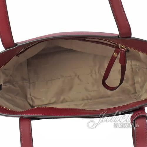 茱麗葉精品【全新現貨】 MICHAEL KORS Whitney 小款 牛皮肩背包/托特包.魔力紅