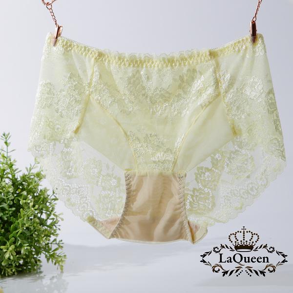 LaQueen 獨家柔軟100%蠶絲小褲(1802 黃)