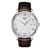 TISSOT 天梭 簡約羅馬時尚錶 (T0636101603800) 白/42mm