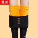 打底褲 打底褲女褲秋冬季2020新款韓版高腰小腳鉛筆外穿加厚加絨保暖棉褲 夢藝