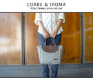 CORRE【LI065】亞麻圓蓋小手提包...