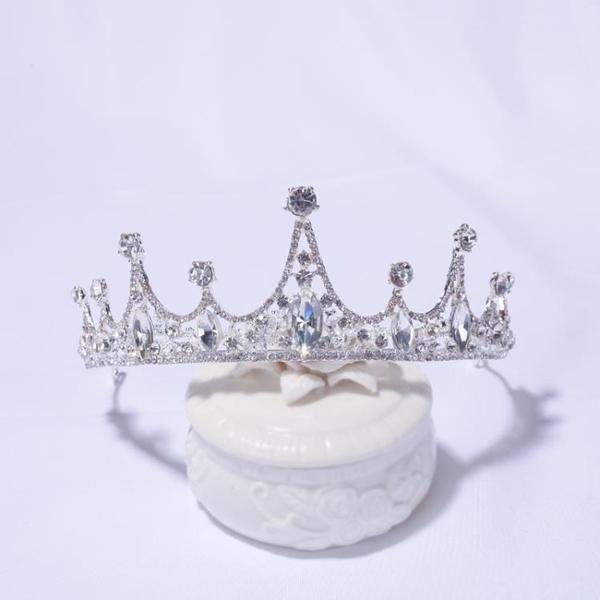 皇冠頭飾 小孩皇冠頭飾兒童公主韓國女童發箍可愛女孩水鉆生日王冠演出發飾 嬡孕哺