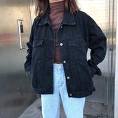 外套 2020春秋新款時尚黑色牛仔外套女寬鬆韓版學生BF風百搭夾克上衣潮