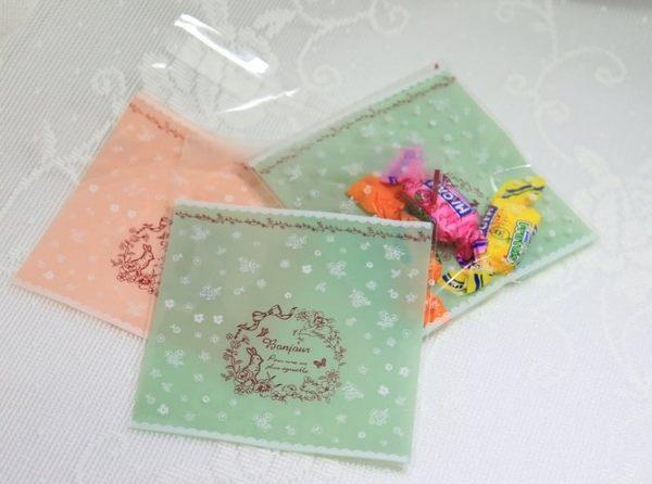 95入 碎花兔子 自黏袋 封口袋 婚禮小物袋D015