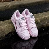 Adidas Continental 80 紅線 粉紅 皮革 YEEZY平民版 復古 休閒 女 B41679 ☆SP☆