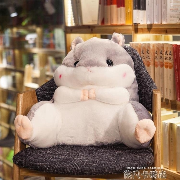 倉鼠學生腰靠椅子護腰枕靠枕靠背靠墊汽車辦公室座椅抱枕被子兩用QM 依凡卡時尚