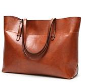 DingleLingle丁果時尚包款ღ簡約油蠟皮大托特包手提包側背包*4色 2款