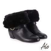 A.S.O 內增高 腿型修飾心機美靴