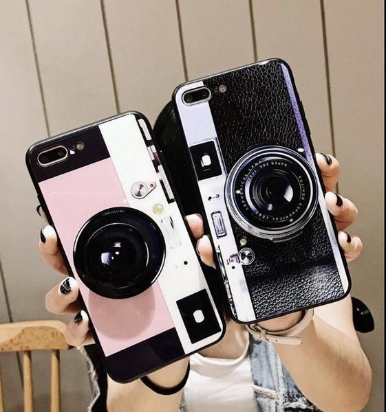 iPhone X 手機殼 抖音同款 照相機 玻璃 鏡面 保護殼 氣囊 支架 軟邊 硬殼