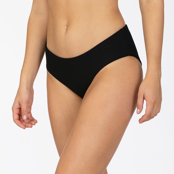 HURLEY|女 W HRLY RIB BOY SURF BOTTOM BLACK 比基尼褲