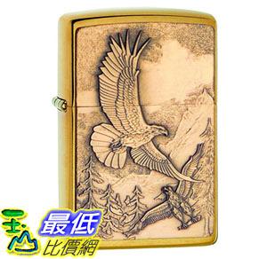 [8美國直購] Zippo 20854 老鷹 打火機 Where Eagles Dare Brushed Brass Pocket Lighter, Brushed Brass Where Eagles