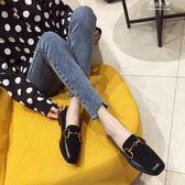 鞋子女韓版搭扣超軟單鞋平跟平底學生女鞋懶人一腳蹬 伊莎公主