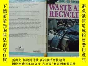 二手書博民逛書店waste罕見and recycling 廢物和回收利用 f2-