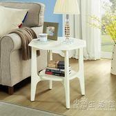 大理石小邊桌美式沙發邊幾簡約家用茶幾創意角幾客廳咖啡桌  WD 聖誕節歡樂購