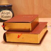 筆記本大號聖經本皮質加厚日記本記事本學生筆記本子創意復古文具空白本 台北日光