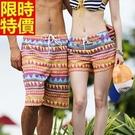 情侶款海灘褲(單件)-民族風格熱情配色男女沙灘褲66z9【時尚巴黎】