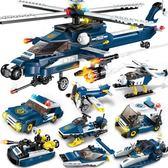 拼裝積木 積木男孩子兒童拼裝玩具益智積木軍事智力城市6-7-8-10歲XW 全館免運