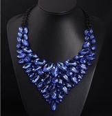 歐美奢華閃寶石鎖骨項鏈時尚禮服晚宴女外貿配飾品毛衣鏈 KV6300 『小美日記』