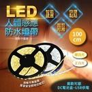 LED人體感應防水燈帶 1米 白光暖光智...