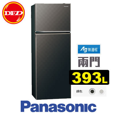 PANASONIC 國際牌 NR-B409TV 雙門 冰箱 星空黑/銀河灰 393L 變頻系列 無邊框 公司貨 ※運費另計(需加購)
