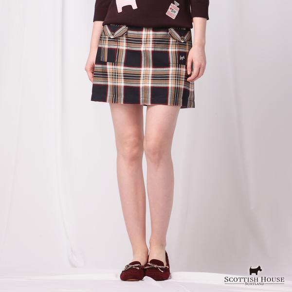 造型口袋格紋裙 Scottish House【AD2104】