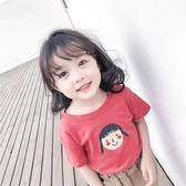女童短袖上衣 女童短袖T恤夏裝新款嬰兒童洋氣半袖小寶寶正韓純棉上衣潮季-Ballet朵朵