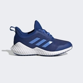 Adidas Fortarun K [G27156] 中童鞋 運動 休閒 慢跑 舒適 透氣 襪套 魔鬼氈 愛迪達 藍白