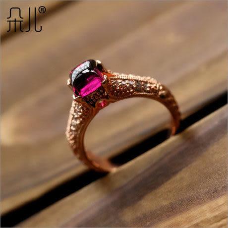 石榴石戒指