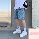 大碼百搭寬松五分褲韓版夏季牛仔短褲男【櫻桃菜菜子】
