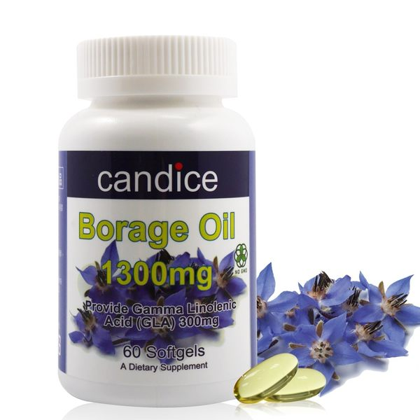 【Candice】康迪斯天然琉璃苣油膠囊(60顆/瓶) 頂級冷壓琉璃苣油,比月見草油更好的選擇