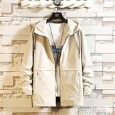 風衣男士外套春秋季新款韓版夾克潮流衣服帥氣風衣休閒男裝衣服潮 伊蒂斯