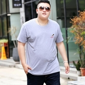 t恤男短袖胖子寬鬆特大號超大碼胖人純棉半袖上衣加肥加大t桖小衫