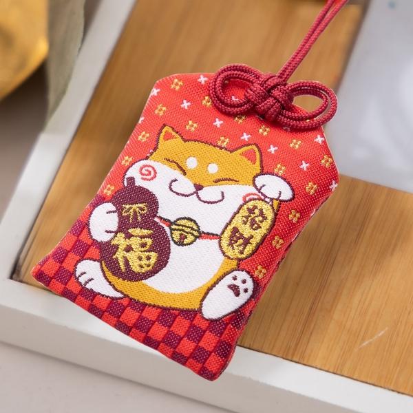 Kiro貓‧柴犬寶寶 金運來福 御守袋/祈福吊飾/車用掛飾【260082】
