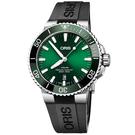 Oris豪利時 Aquis 時間之海潛水300米日期機械錶-綠水鬼/43.5mm 0173377304157-0742464EB
