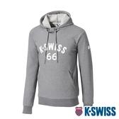 K-SWISS KS 66 Hoodie連帽上衣-男-灰