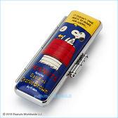asdfkitty可愛家☆SNOOPY史努比紅房屋硬殼印章盒/印鑑盒-4分圓型印章適用-附印泥-日本正版商品