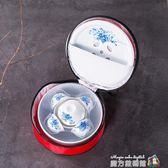 旅行功夫旅游茶具套裝陶瓷迷你干泡戶外家用車載簡約便攜式包 igo魔方數碼館