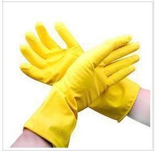 TwinS舒適耐用型家務清潔乳膠手套【顏色隨機發貨】