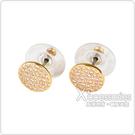 kate spade Shine On壓印LOGO圓形設計鑽鑲飾穿式耳環(金x白)