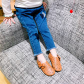 女童裝春秋季休閒褲子2女寶寶3女嬰兒1-7歲5春裝時尚刺繡牛仔長褲禮物限時八九折