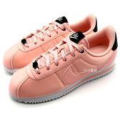 《7+1童鞋》NIKE CORTEZ BASIC TXT VDAY (GS) 經典阿甘 粉紅搖滾 慢跑  運動鞋 F858  粉色