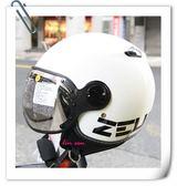 ZEUS 瑞獅安全帽,MOMO 飛行帽,210C,DD11/白