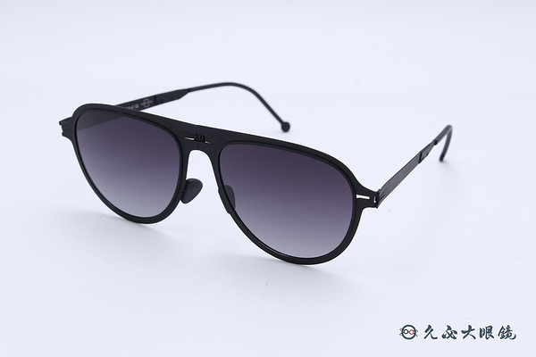 ROAV 偏光太陽眼鏡 Dixon - Mod.8006 ( 霧黑框/漸層灰 ) 薄鋼折疊墨鏡