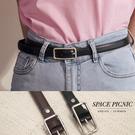 皮帶 Space Picnic|長方形金屬環細皮帶(現貨)【C20071004】