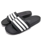 adidas 拖鞋 Adilette Cloudfoam Plus Stripes Slides 黑 白 運動拖鞋 女鞋 涼拖鞋 舒適好穿【PUMP306】 AP9966