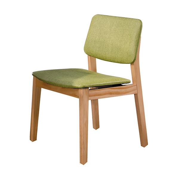 【森可家居】史蒂夫原木亞麻皮餐椅(綠皮) 8HY449-06 日式無印北歐風 MIT台灣製造
