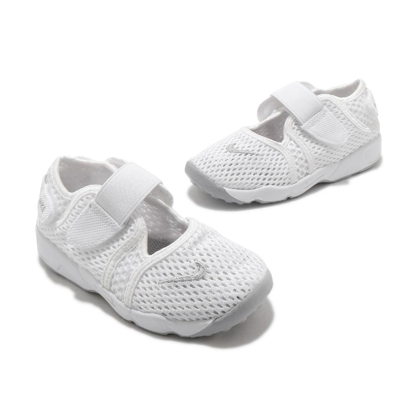 Nike 忍者鞋 Little Rift TD 白 全白 透氣 分趾鞋 童鞋 小童鞋 小白鞋【ACS】 317415-111