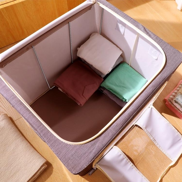 衣物收納箱布藝整理箱紡衣服儲物箱納盒打包袋